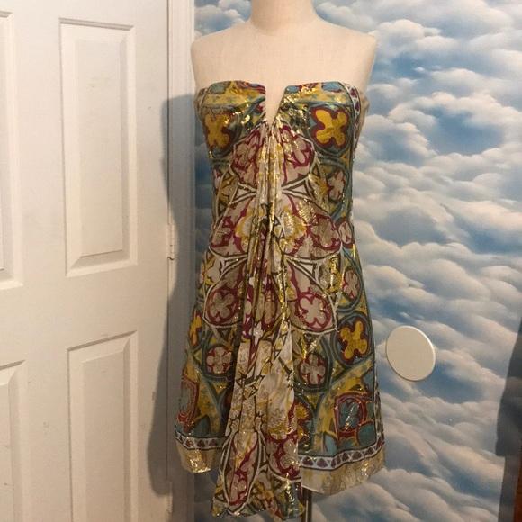 34de2268e8d0 Nicole Miller Dresses | Like New Size 4 Shimmer Silk Dress | Poshmark
